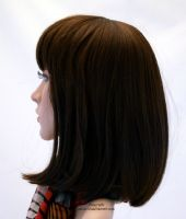 Ladies Full Head Wig - Longer Length Bob in Warm Brunette